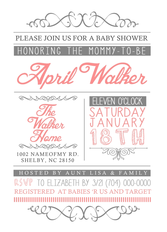 5x7 baby shower invite white bg