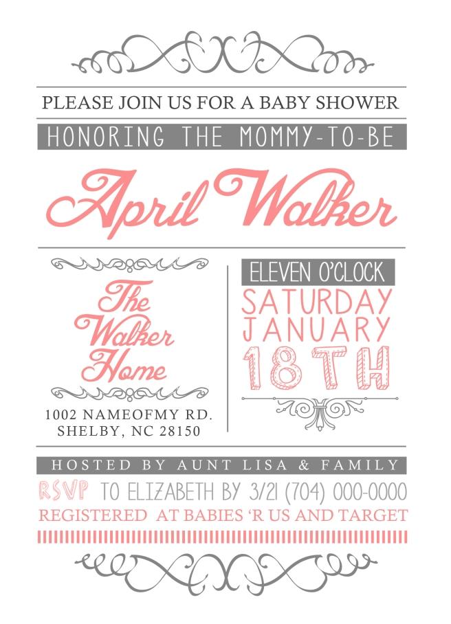 5x7 baby shower invite white bg