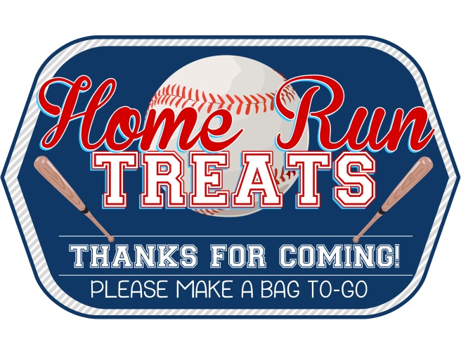 homerun treat sign