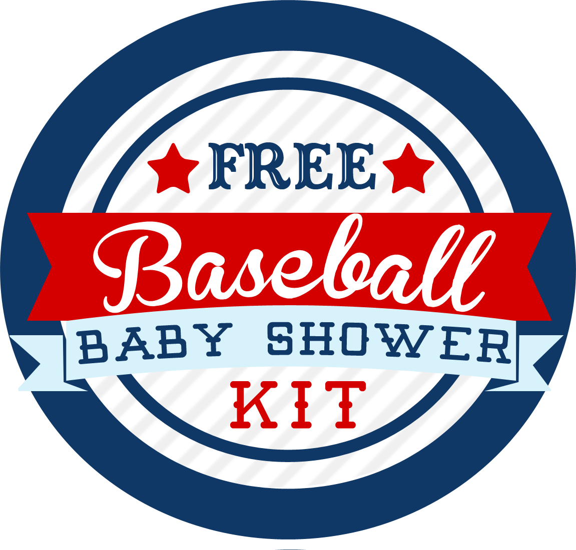 free baseball baby shower kit