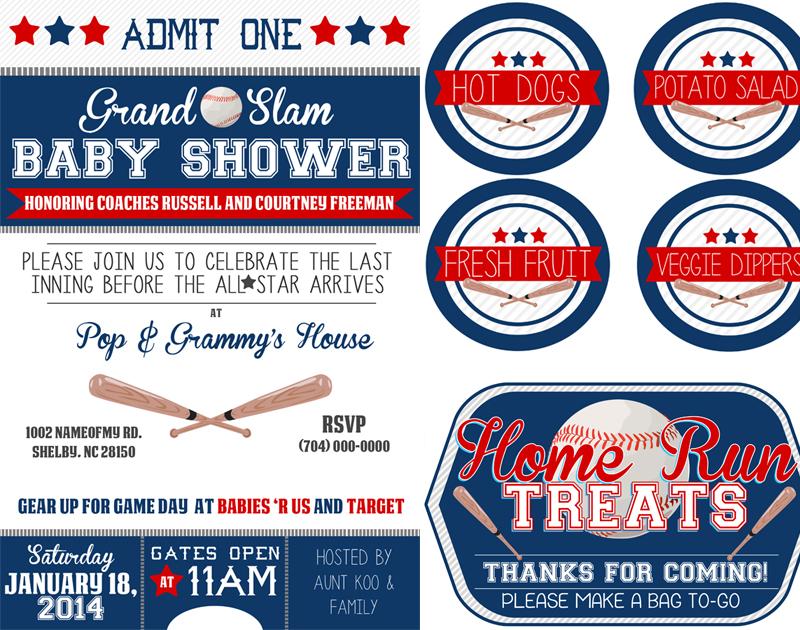 Baseball Themed Baby Shower Kit – $10 or Free PSD file ...