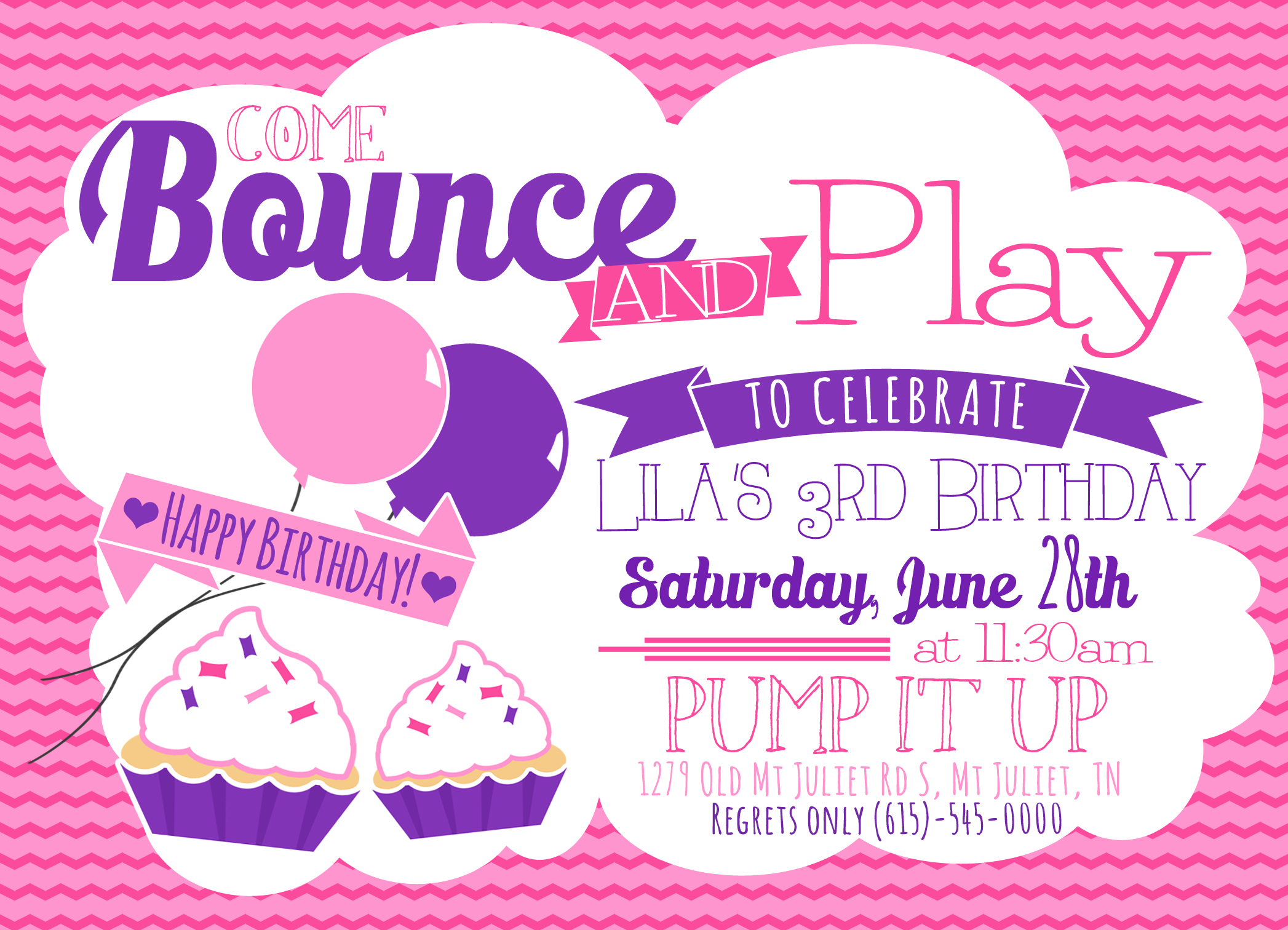 Invitations – Pump It Up Party Invitations