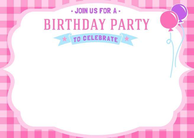 Free Girls Birthday Invitation Printables | Mama Walker
