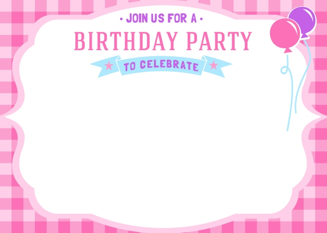 Bright image throughout printable birthday invitations for girl